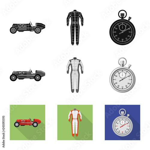 Fotografie, Obraz  Vector design of car and rally icon