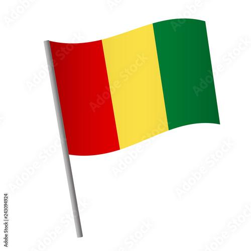 Fotografía  Guinea flag icon