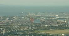 Aerial View Flemington To Port Phillip Bay Melbourne