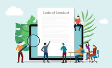 Code Of Conduct Team People Wo...