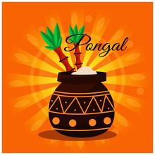 Flat Happy Pongal Background