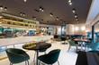 canvas print picture - Modern restaurant interior in city center