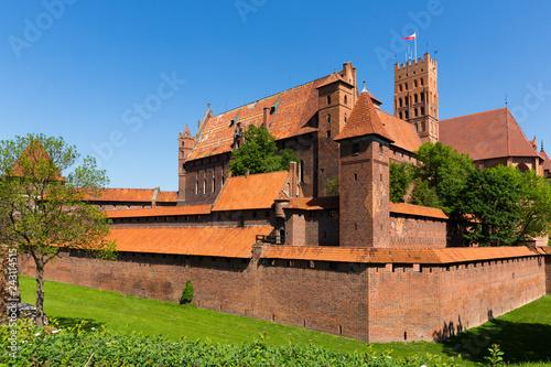 Foto op Aluminium Historisch geb. Castle of Teutonic Order in Malbork, Poland