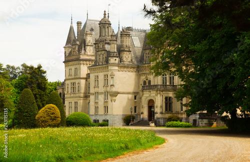 Foto op Aluminium Historisch geb. Montrejeau castle of Valmirande