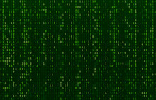 Matrix Code Stream. Green Data...