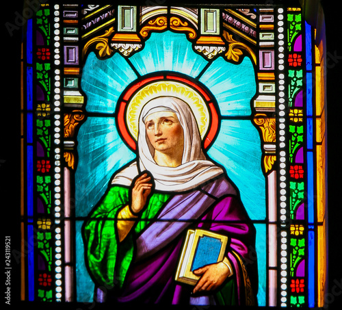 Photo  Saint Anna - Stained Glass in Antibes Church