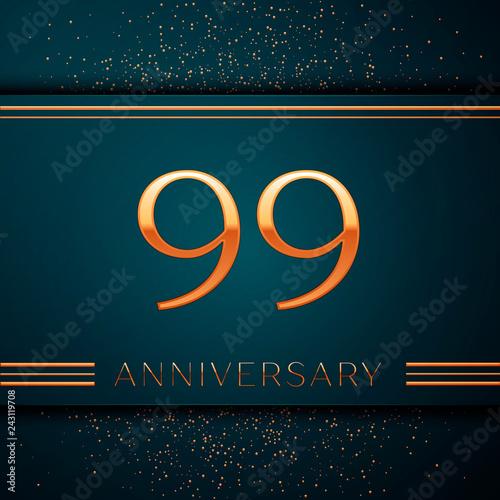 Photographie  Realistic Ninety nine Years Anniversary Celebration design banner