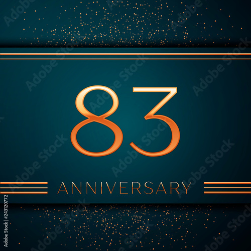 Fotografia  Realistic Eighty three Years Anniversary Celebration design banner