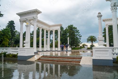 Foto op Plexiglas Historisch geb. The beautiful colonnade in the seaside Park in the center of Batumi, Georgia