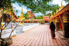 Wat Wang Kham Temples In Khao Wong, Landmark In Kalasin Province Thailand