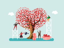 Volunteers Grown Tree Of Love ...