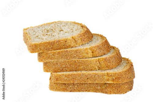 Fotografie, Obraz  Sliced loaf of bread isolated on white background