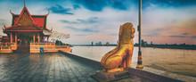 Phnom Penh Riverside. Cambodia. Panorama