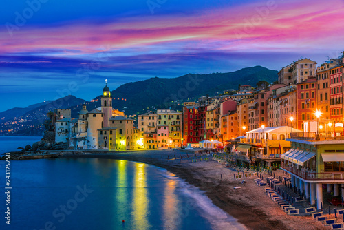 In de dag Europese Plekken The tourist resort of Camogli on the Italian Riviera