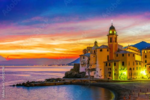 The tourist resort of Camogli on the Italian Riviera