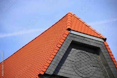 Hausfassade mit Schieferplatten Wallpaper Mural