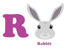 The English Alphabet The Letter R A Rabbit
