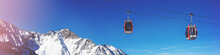 Ski Cable Cars Over Mountain L...