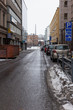 a street view in winter