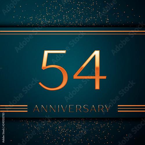 Fotografia  Realistic Fifty four Years Anniversary Celebration design banner