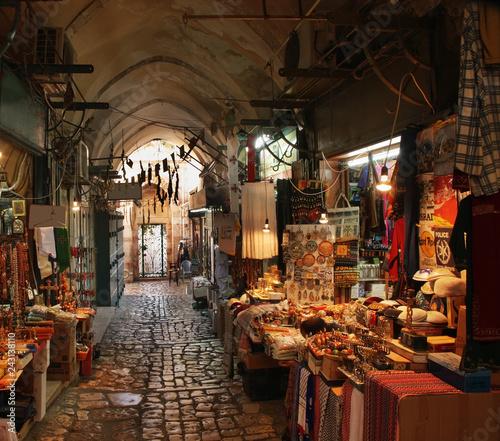 Foto  Old street in Jerusalem. Israel