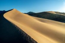 Wind Carved Ridge In A Sand Du...