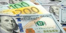 Close Up Notes Real Dollar Euro. Dollar And Euro Notes. Symbol Differences Euro Dollar