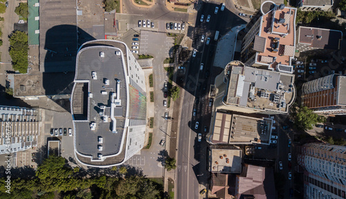 Top Down View Of Buildings Street Roads With Cars In Krasnodar City Russia Buy This Stock Photo And Explore Similar Images At Adobe Stock Adobe Stock