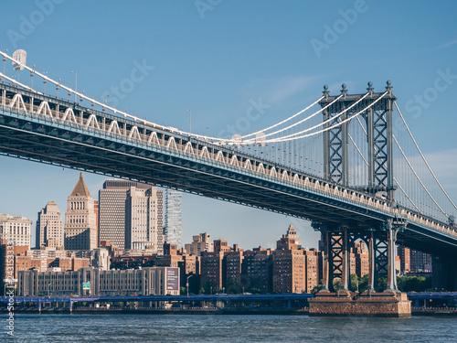 Deurstickers Amerikaanse Plekken Manhattan Bridge in New York City