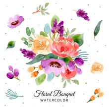 Floral Bouquet Watercolor