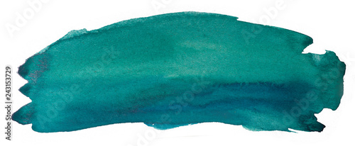 Photo aquamarine texture watercolor stain abstract