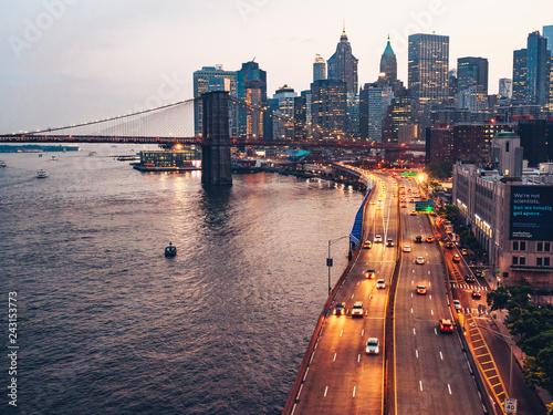 Deurstickers Amerikaanse Plekken Urban landscape in New York