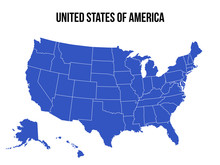United States Of America Map USA Vector Isolated