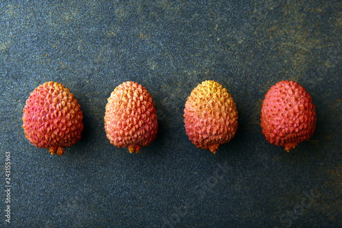 lychee fruit nobody asphalt background