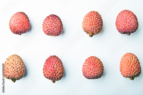 lychee fruit nobody white background