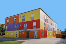 Refugee Accommodation Or Asylum Seekers Hostel In Germany