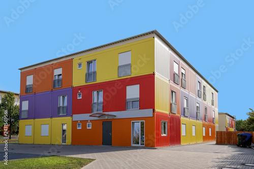 Fényképezés  refugee accommodation or asylum seekers hostel in Germany