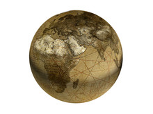 Old Fashioned Globe 3d Rendering
