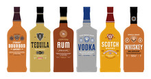 Bottle Mockups With Alcoholic ...