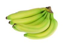 Fresh Green Banana Isolated On White Background