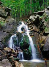Kaskady Rodla, Waterfall On Bi...