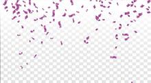 Falling Shiny Purple Confetti ...