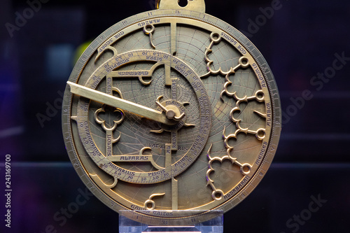 Astrolabe; based on a Spanish Instrument in Gothic style from the 14th century, which betrays strong intuences from the Arabic culture area Wallpaper Mural