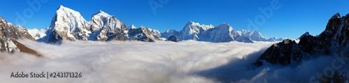 Obraz na plátne  Nepal Himalayas mountains, Khumbu valley, Solukhumbu