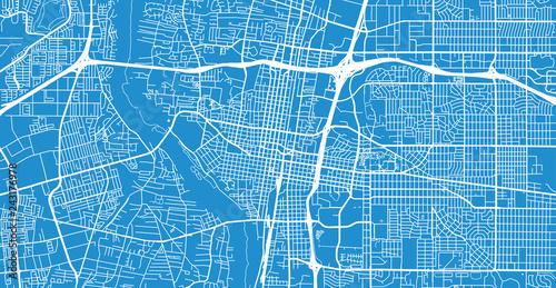 Photo Urban vector city map of Albuquerque, New Mexico, United States of America