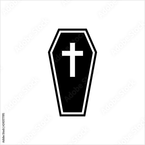 Obraz na plátně Coffin Icon, Coffin Design
