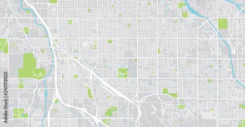 Urban vector city map of Tucson, Arizona, United States of America on