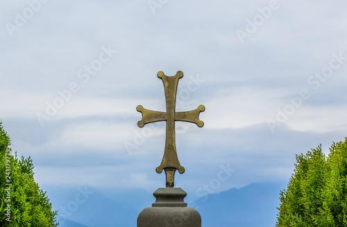 Catholic Cross Religion Sign Church Monastery Exterior