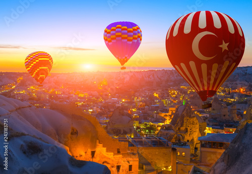 hot air balloon flight over Cappadocia Turkey
