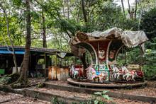 Abandoned Amusement Park In Yangoon - Merry-go-round 1